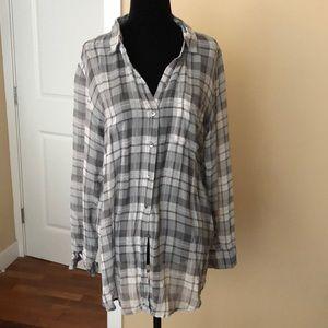 Aritzia Babaton Darien 100% Silk Shirt Blouse - M